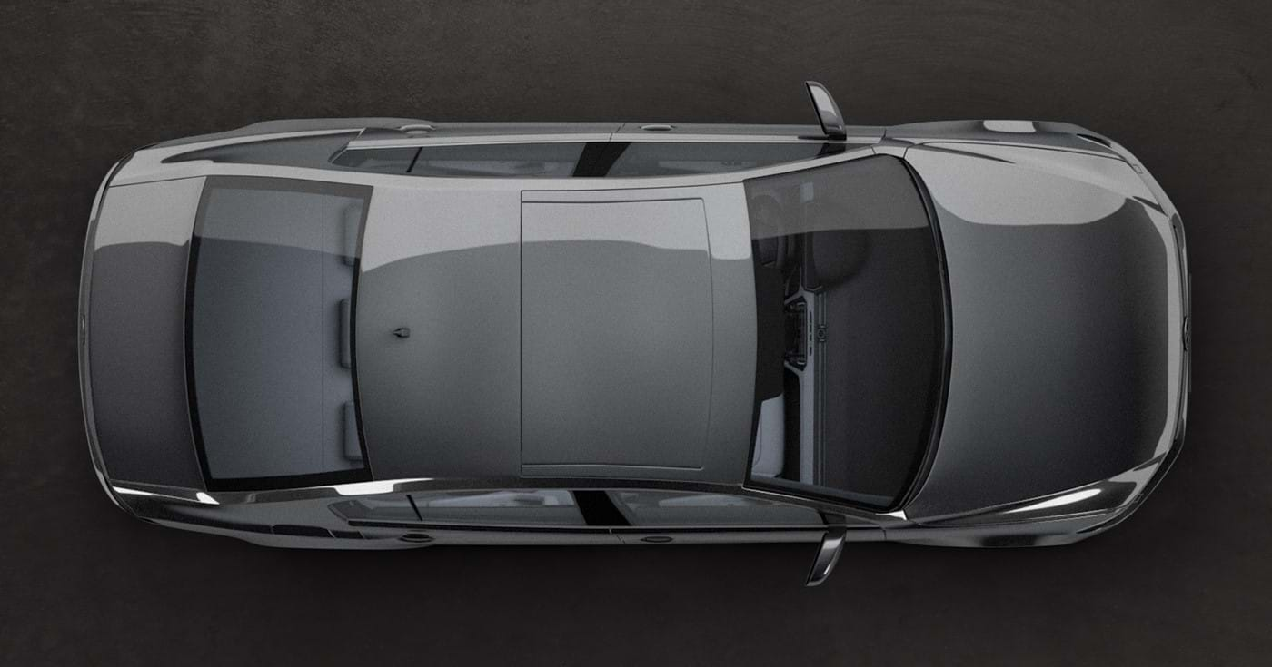 View on VW Passat B8 from the top