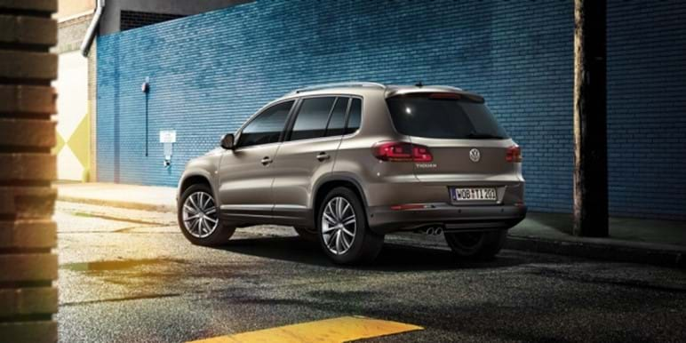 Tiguan in the parking area