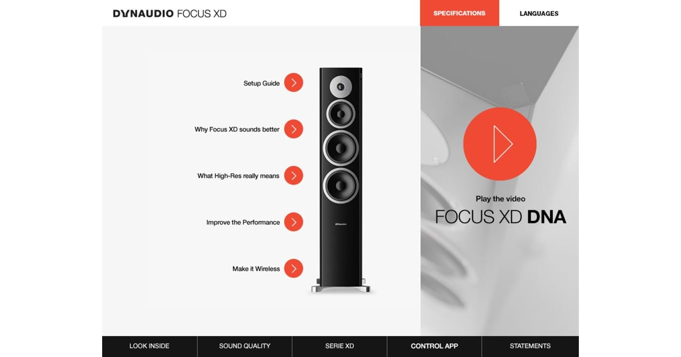 Features of Focus XD speaker