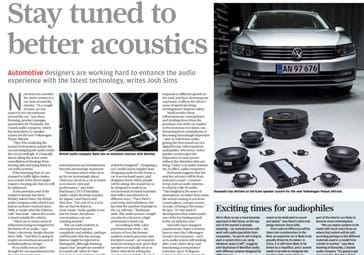 "Article ""Stay turned to better acoustics"""